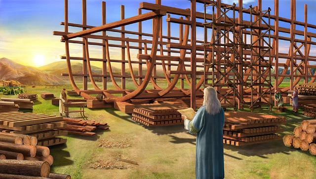 Noé construye el arca,historias biblicas,biblia,personajes biblicos