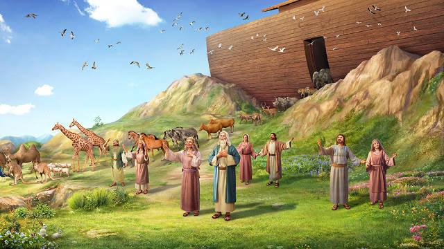 Noé y su familia,historias biblicas,biblia,personajes biblcios