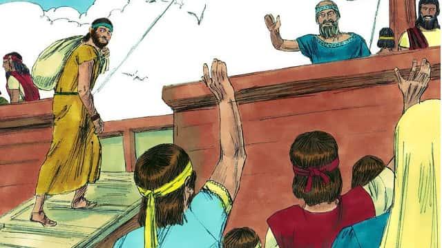 Jonás huye de Jehová
