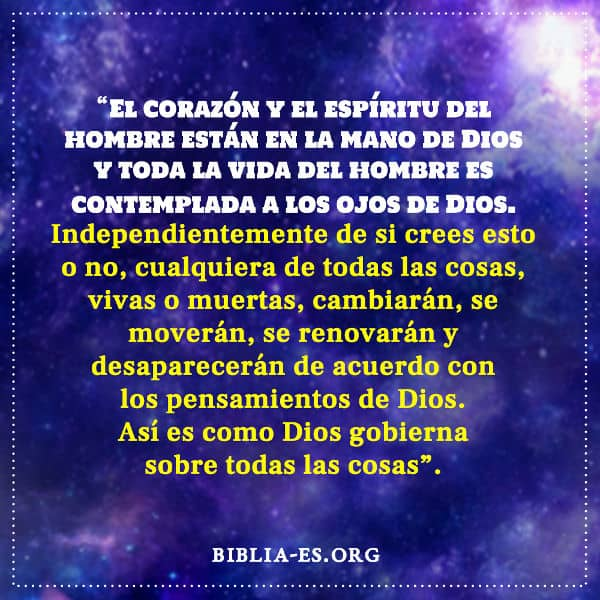 Conocer a Dios La soberanía de Dios