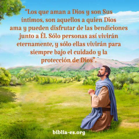 Dios bendice a quienes le aman
