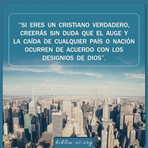 Dios tiene el control del destino de cualquier país o nación