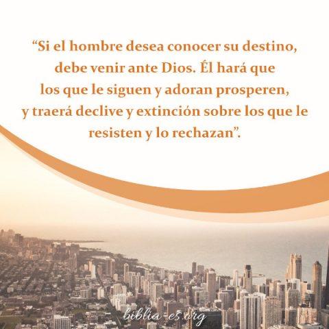 Nuestro destino está en las manos de Dios