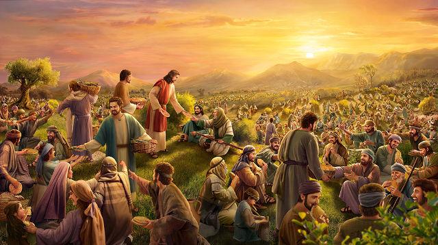 Milagros de jesús-Jesús alimenta a los cinco mil