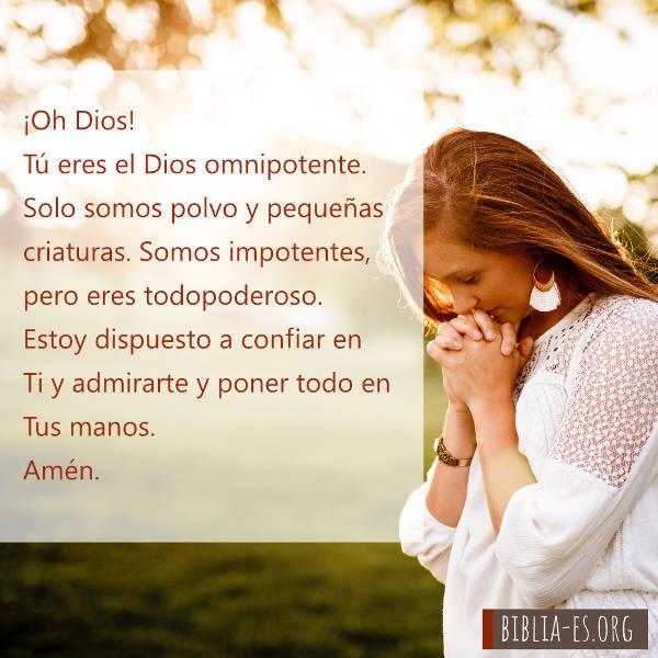 Oración a Dios-Poner todo en las manos de Dios