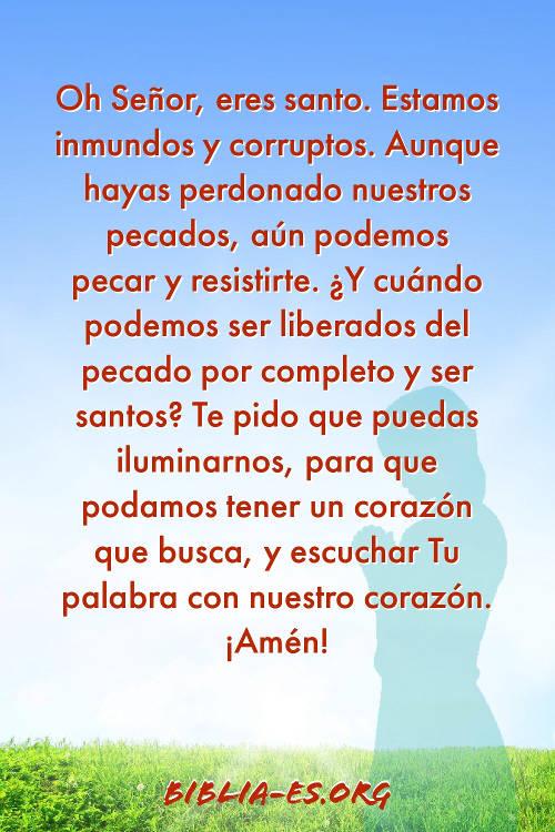 Oración a Dios-escuchar Tu palabra con nuestro corazón.