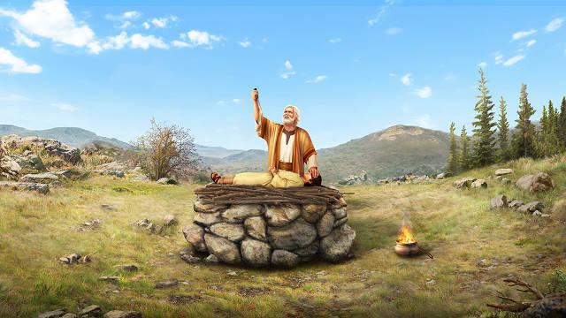 Abraham y Isaac,personajes de la Biblia,imagenes biblicas