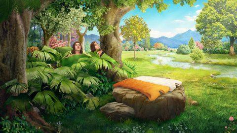 Jehová Dios hizo abrigos de pieles para Adán y su esposa y los vistió
