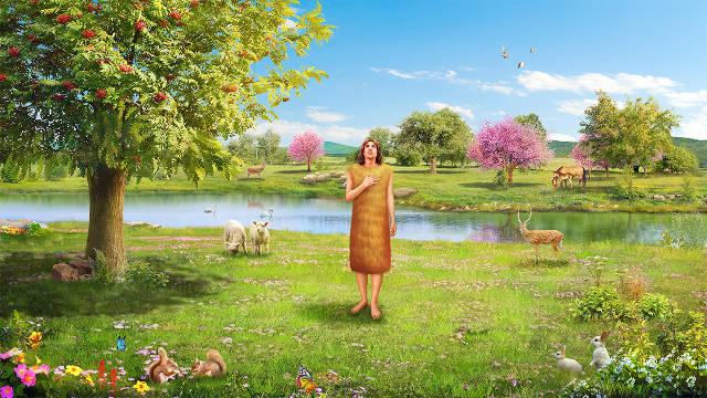 Adán,imagenes biblicas,Jardín