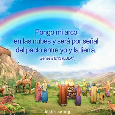 Dios bendice a Noé y su familia,arcoiris pacto de Dios