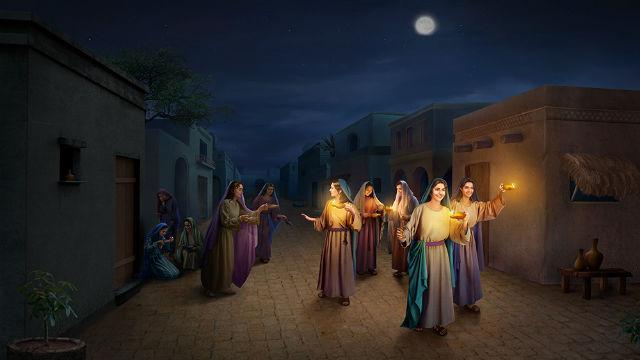 Parábola de las 10 vírgenes, las vírgenes prudentes pueden recibir la segunda venida de Cristo