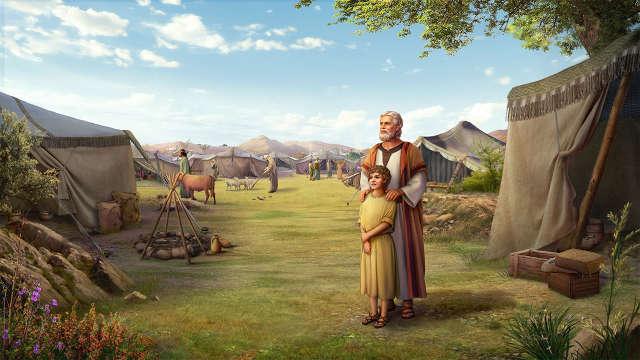 Imagenes cristianas,Personajes de la biblia,Job y su hijo