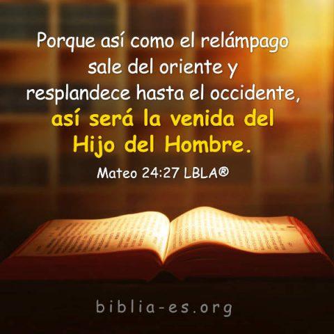 Mateo 24:27