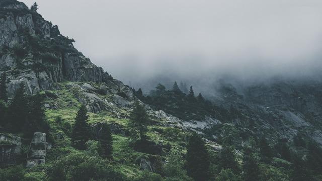 La gran protección de Dios, montaña